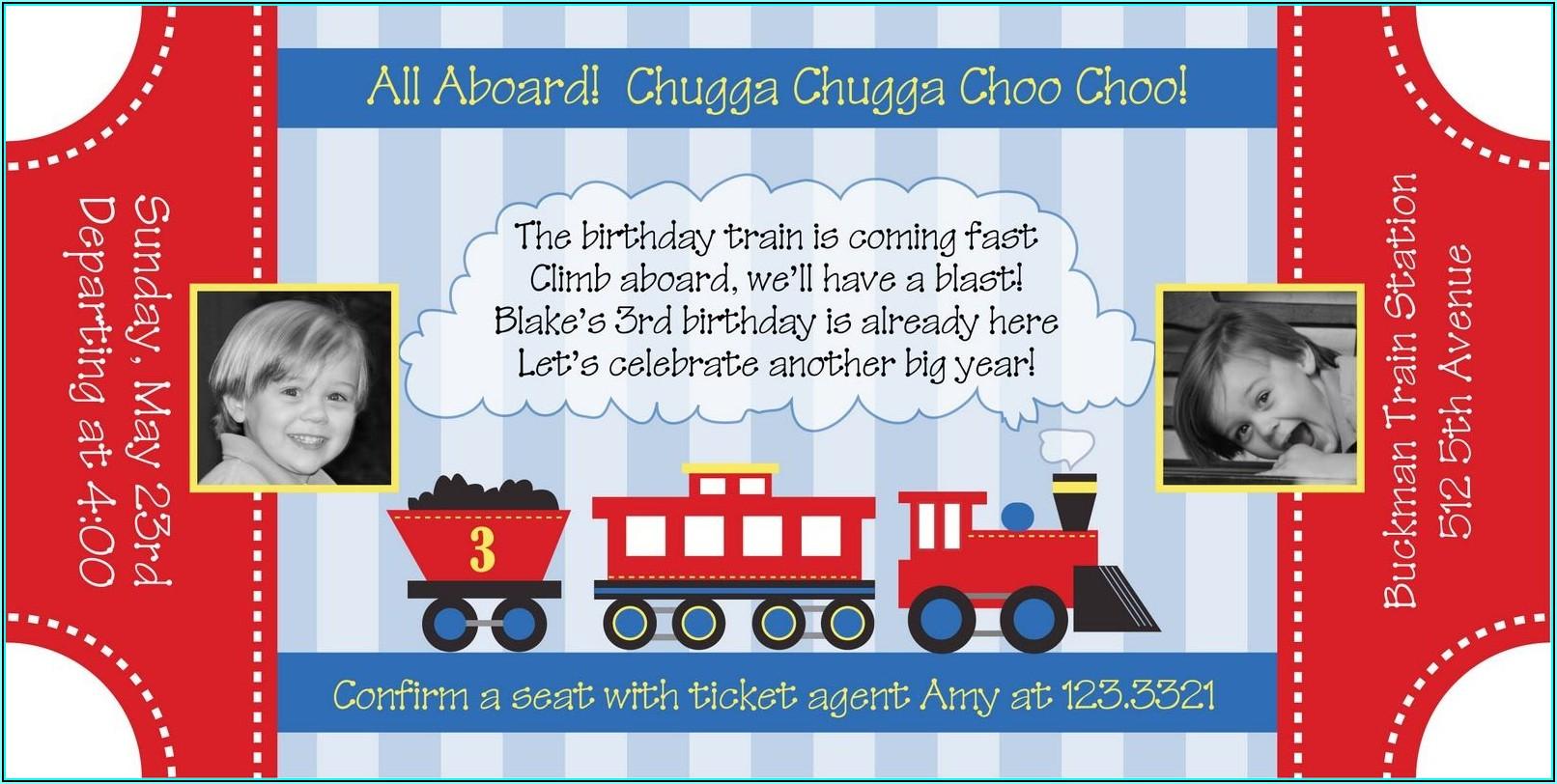 Train Invitation Template Free