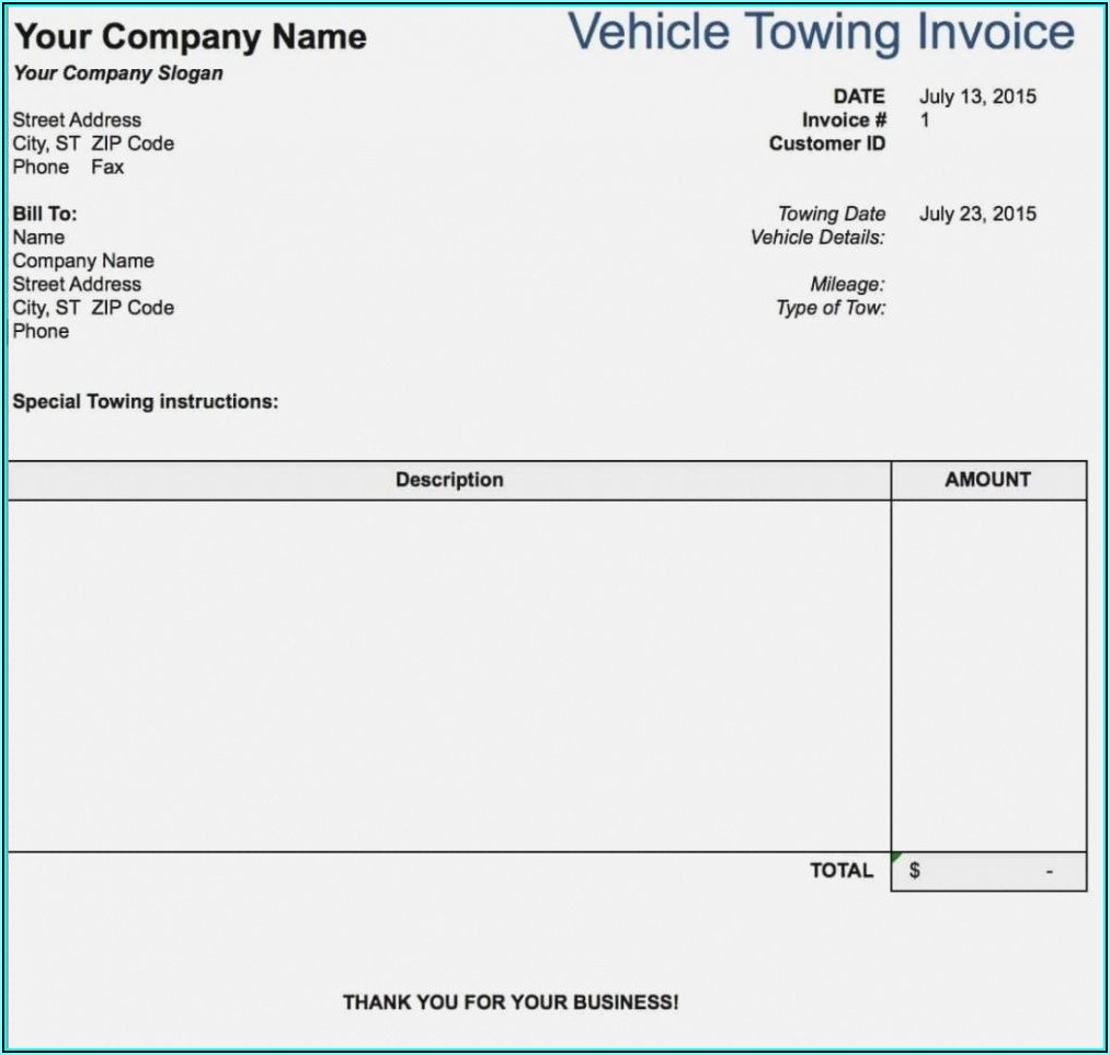 Trucking Invoice Example