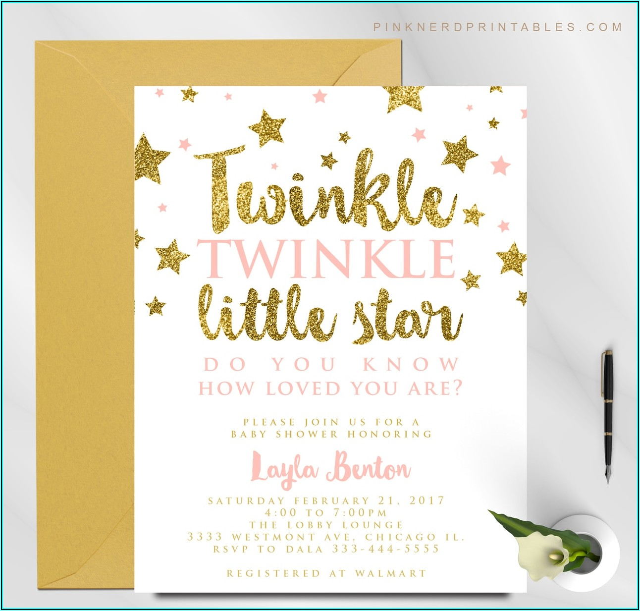 Twinkle Twinkle Little Star Birthday Invitation Wording