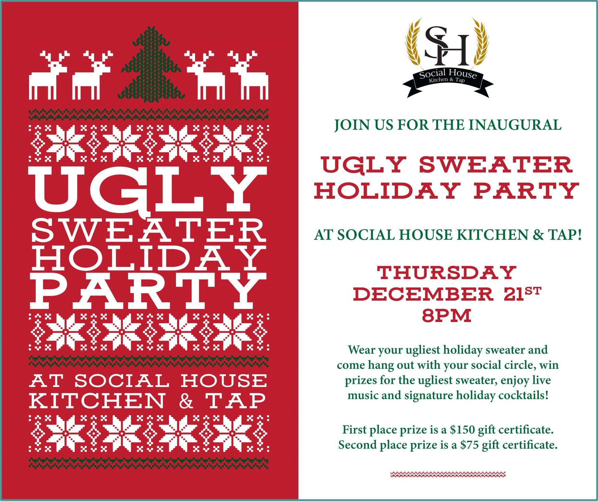 Ugly Sweater Party Invite Template