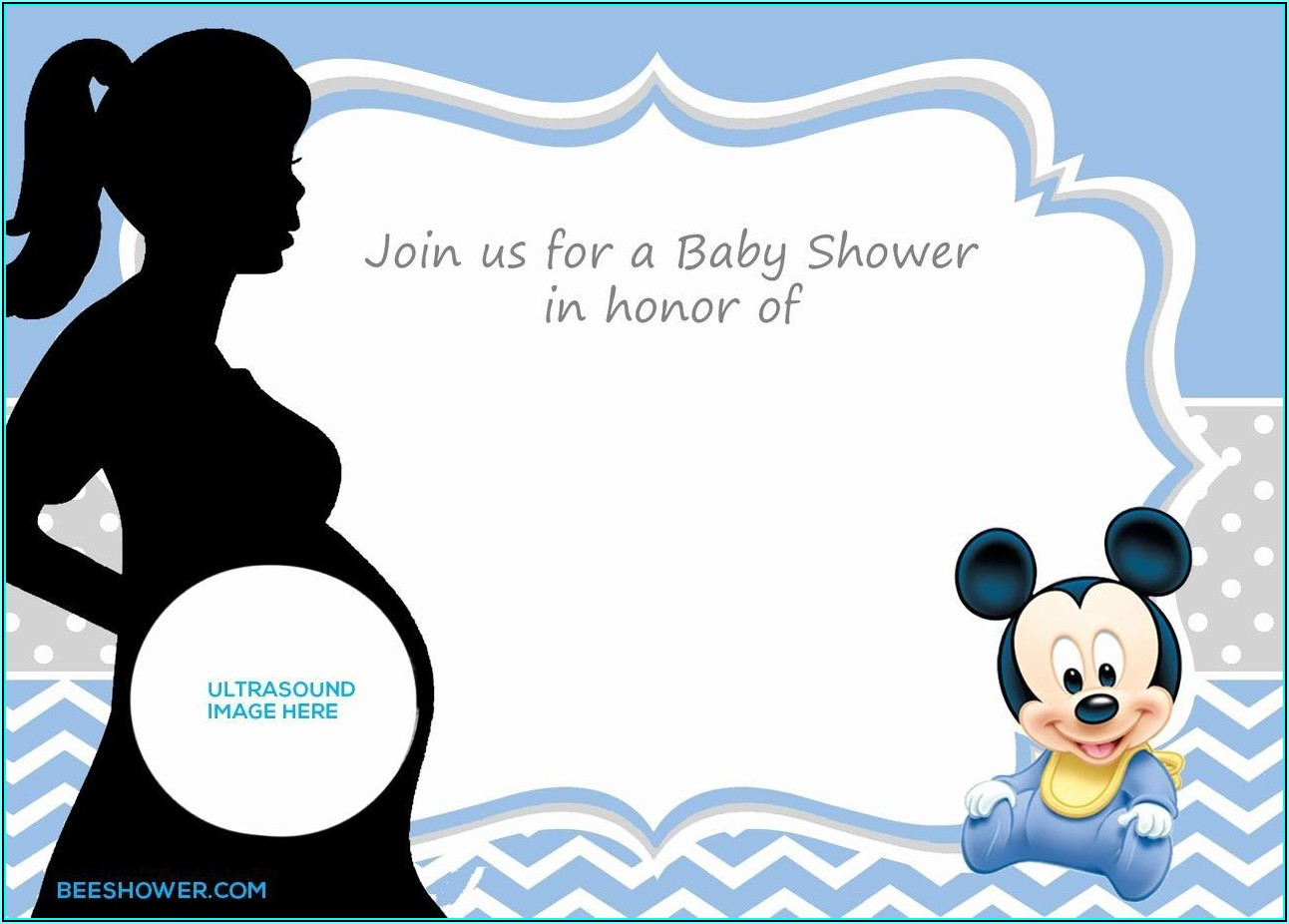 Ultrasound Baby Shower Invitation Template Free