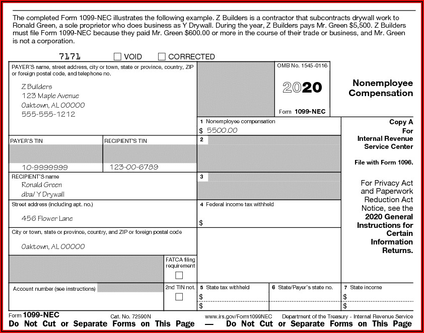 Us Tax Return Form 1099