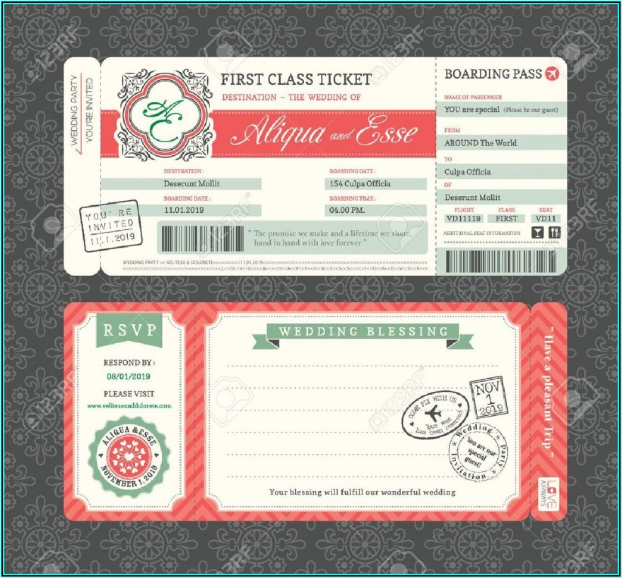 Vintage Movie Ticket Invitation Template Free
