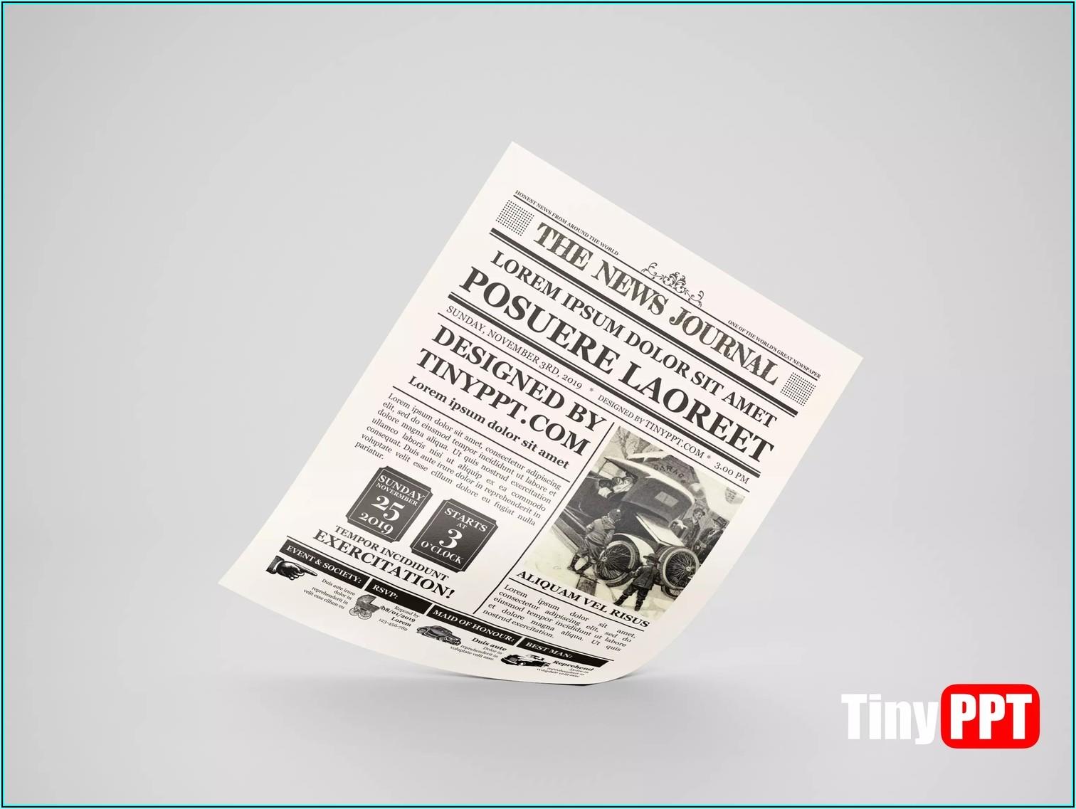 Vintage Newspaper Template Word Free