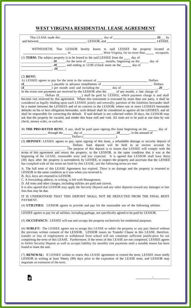 Virginia Residential Rental Application Form