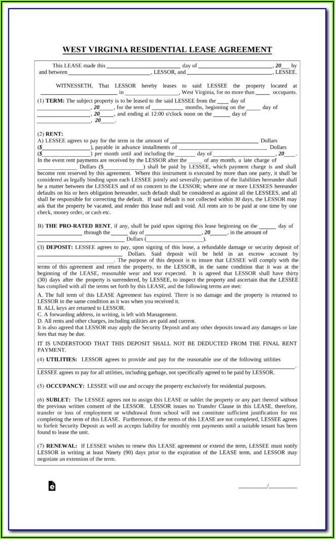 Virginia Residential Rental Application Form
