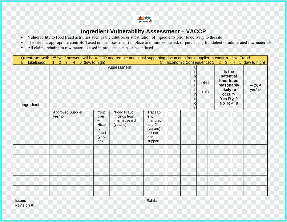 Vulnerability Assessment Template Excel