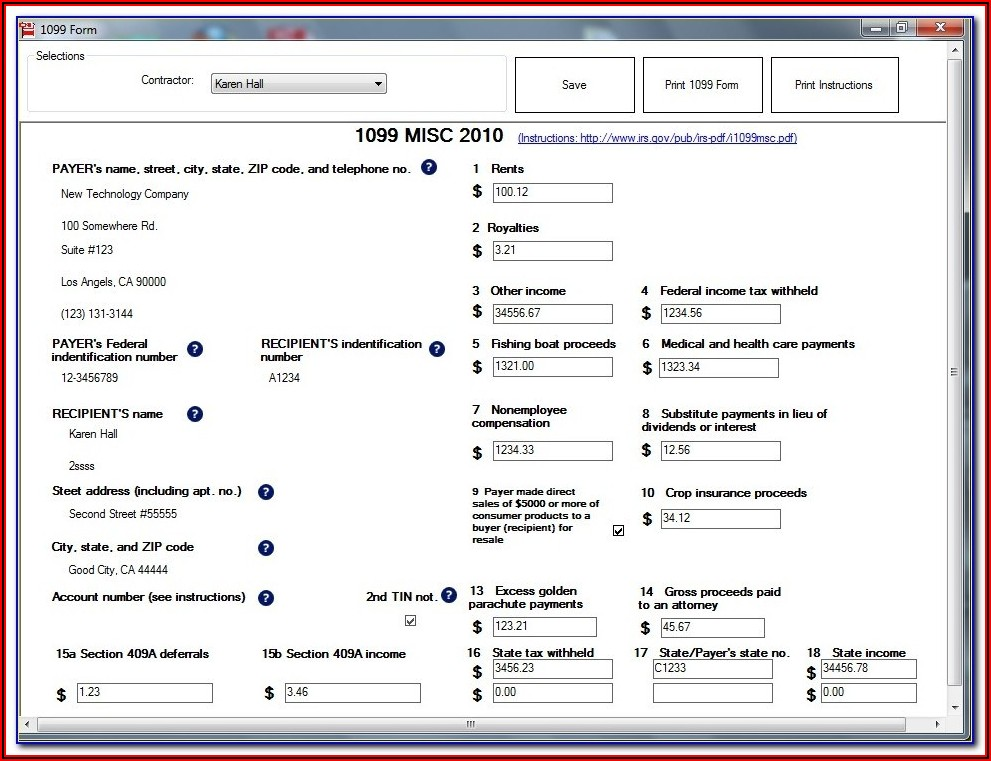 W2 And 1099 Forms Free