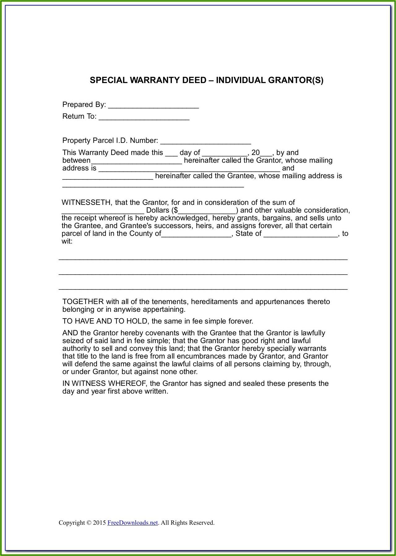 Warranty Deed Document
