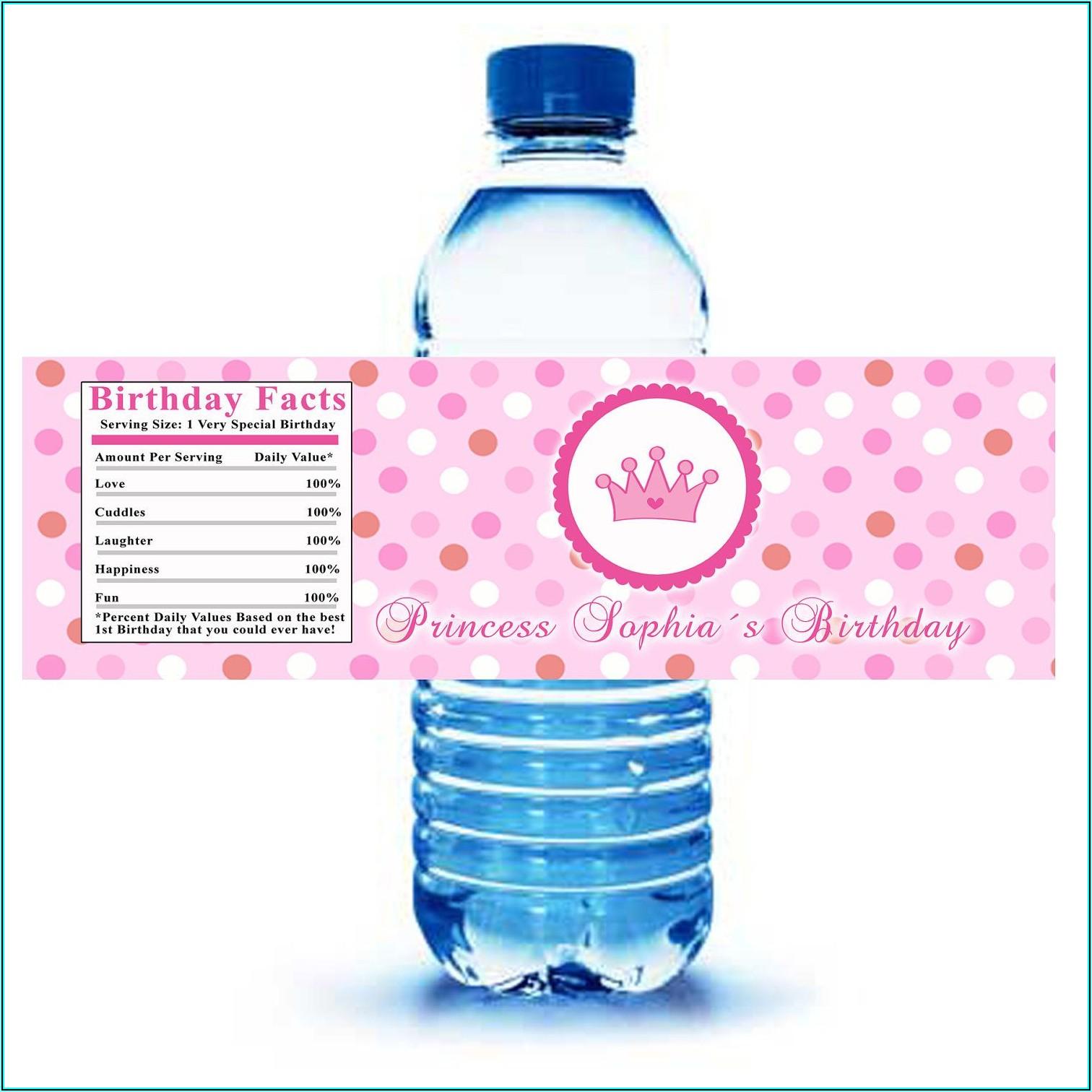 Water Bottle Wrapper Template