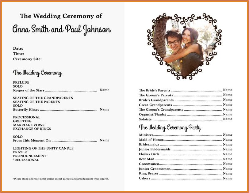 Wedding Bulletin Templates Free