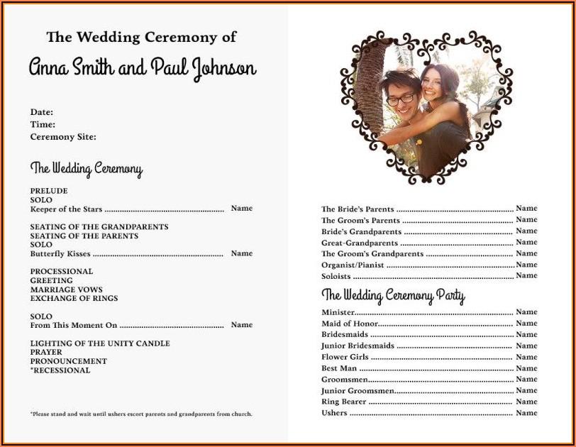 Wedding Bulletin Templates