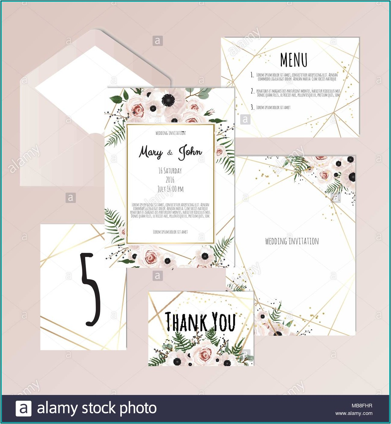 Wedding Envelope Label Templates