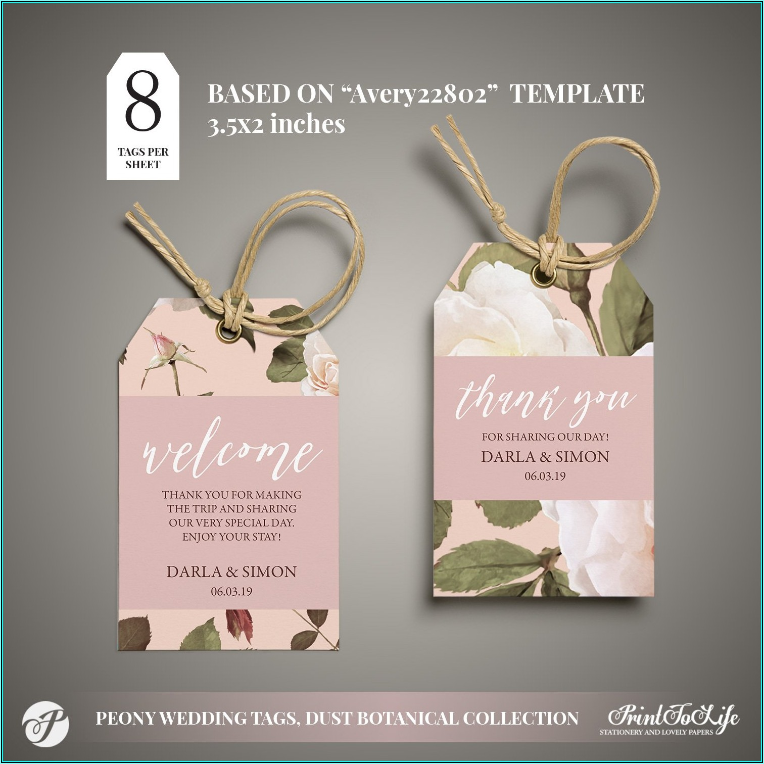 Wedding Favor Sticker Template