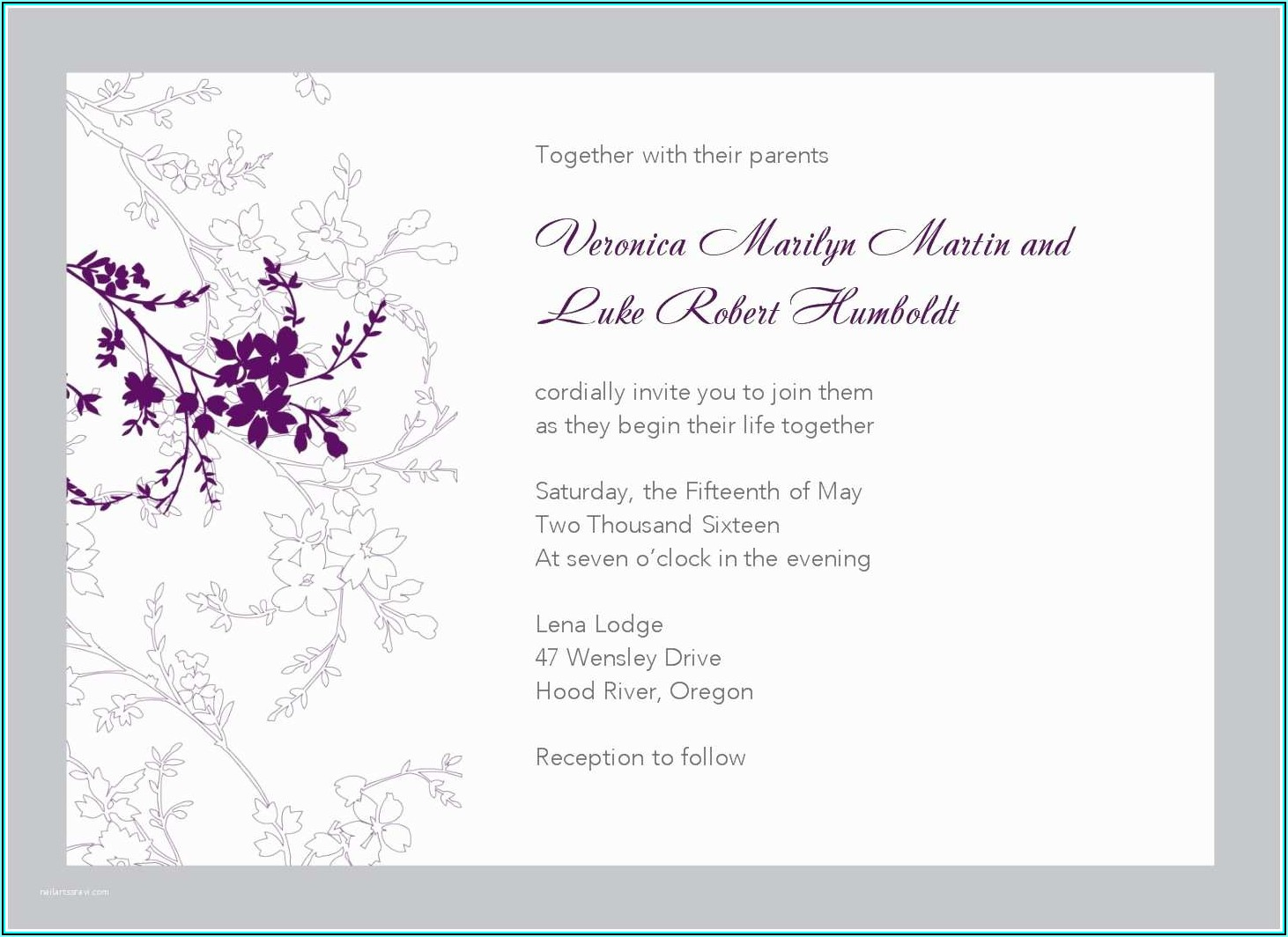 Wedding Invitation Flyer Template Free
