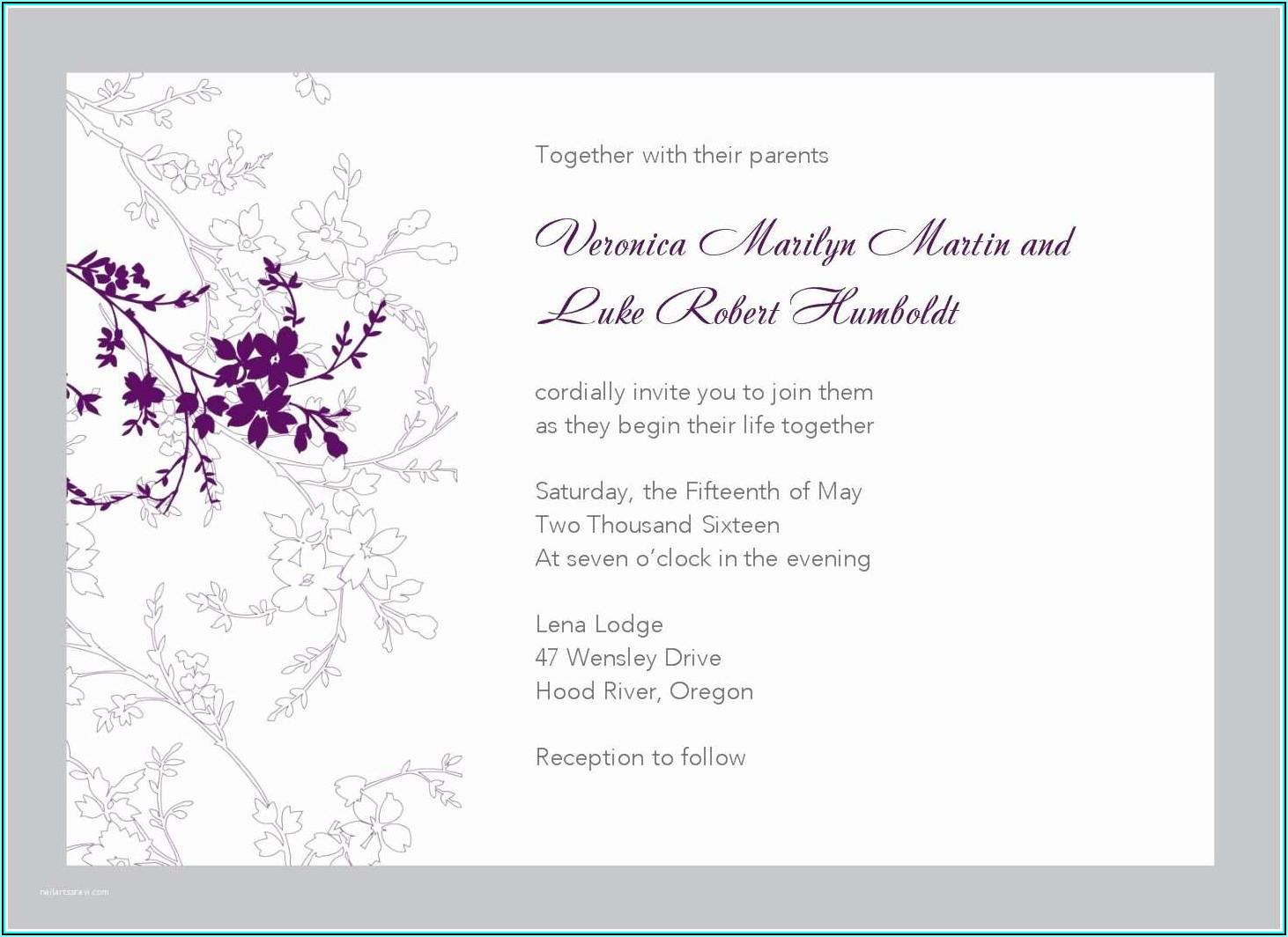 Wedding Invitation Flyer Template Free