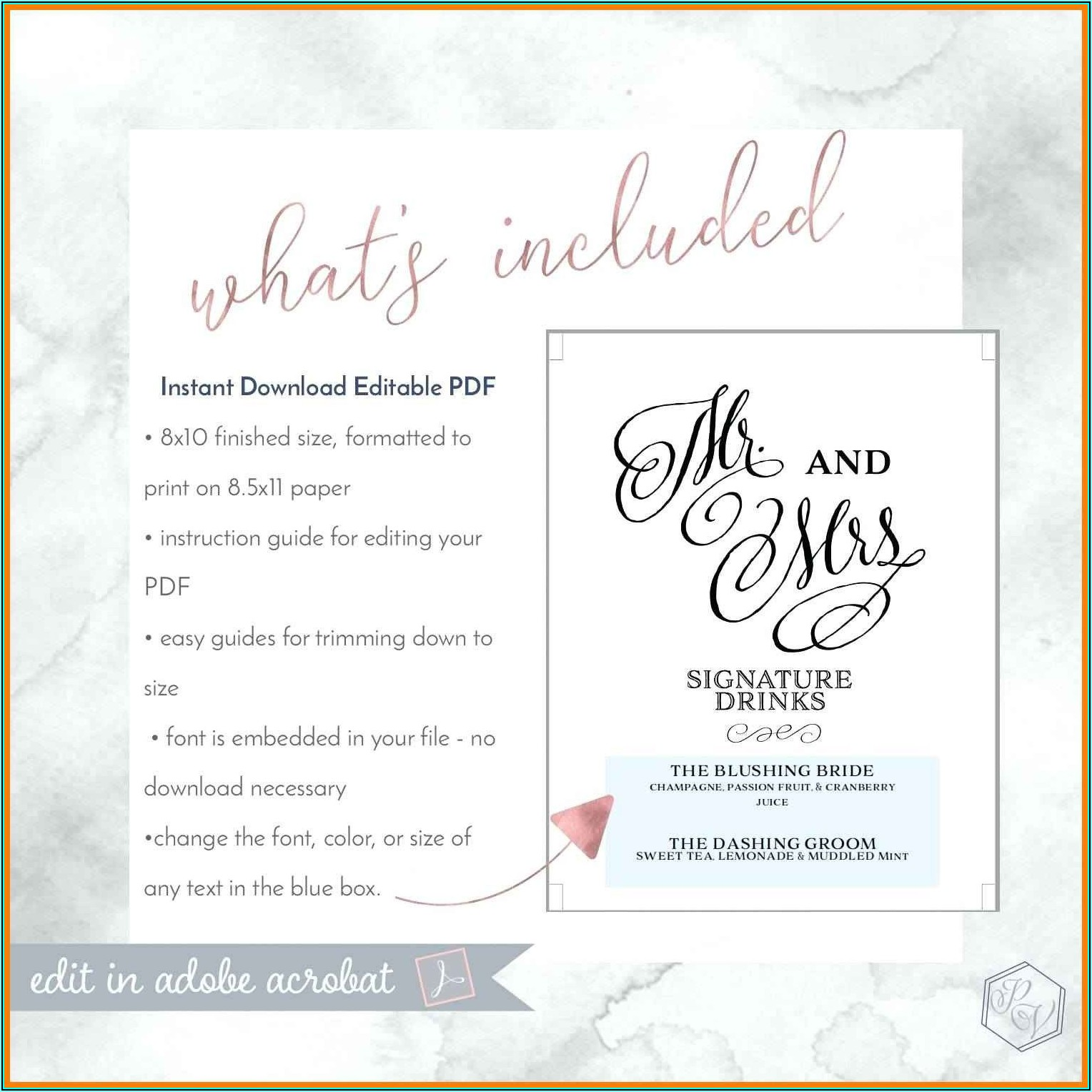 Wedding Menu Templates Free Microsoft Word
