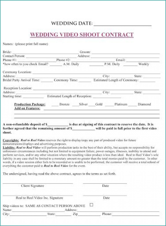 Wedding Planner Contract Template Australia