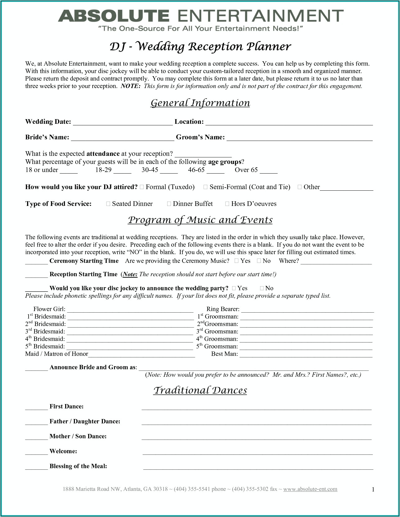 Wedding Planner Contract Template Uk