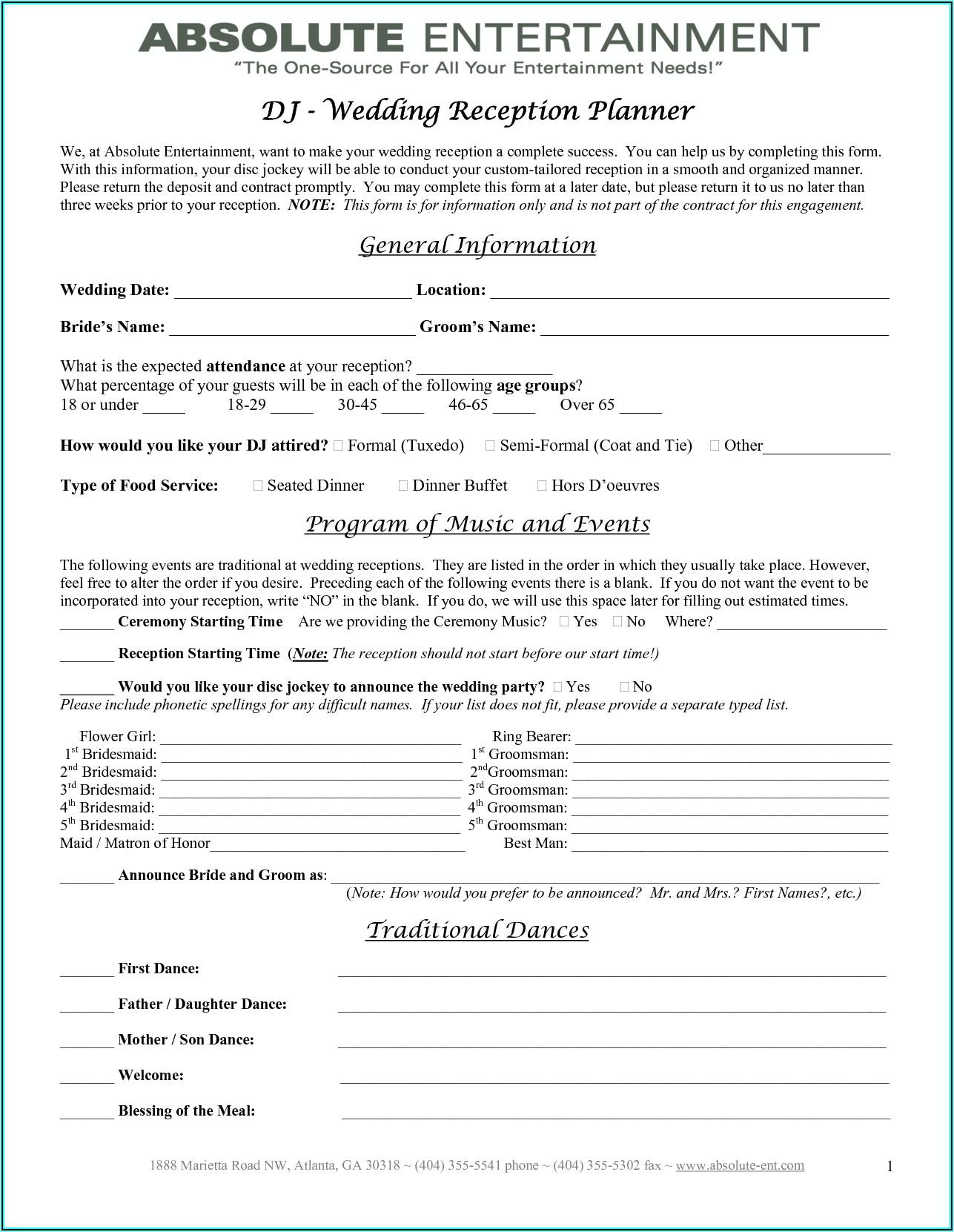 Wedding Planner Contract Template Uk