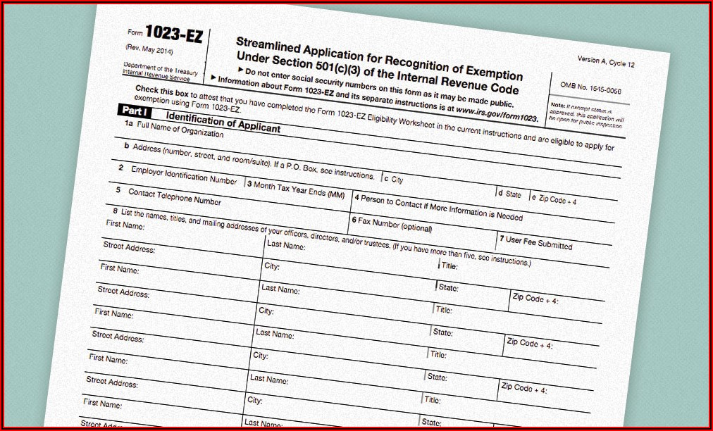 What Is A 501c3 Tax Form
