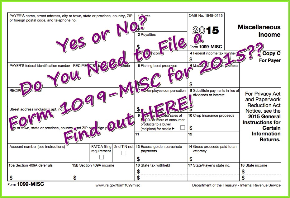 Where Do I File 1099 Misc Form