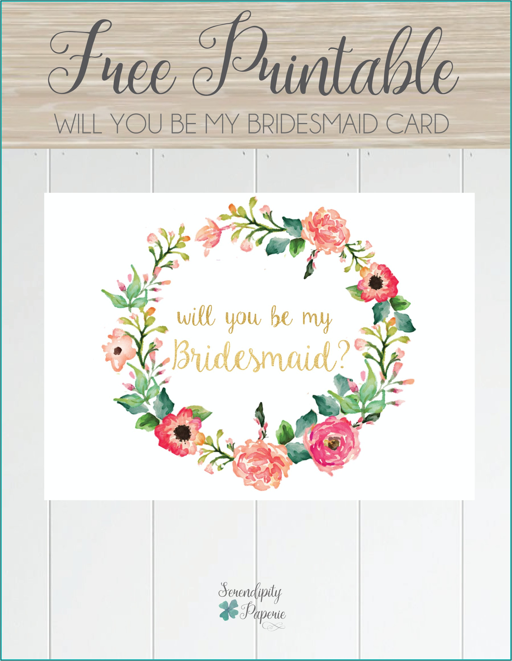 Will You Be My Bridesmaid Letter Template Free