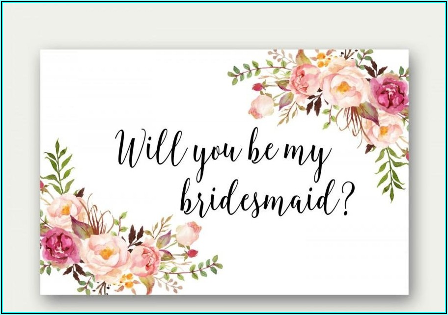 Will You Be My Maid Of Honor Letter Template