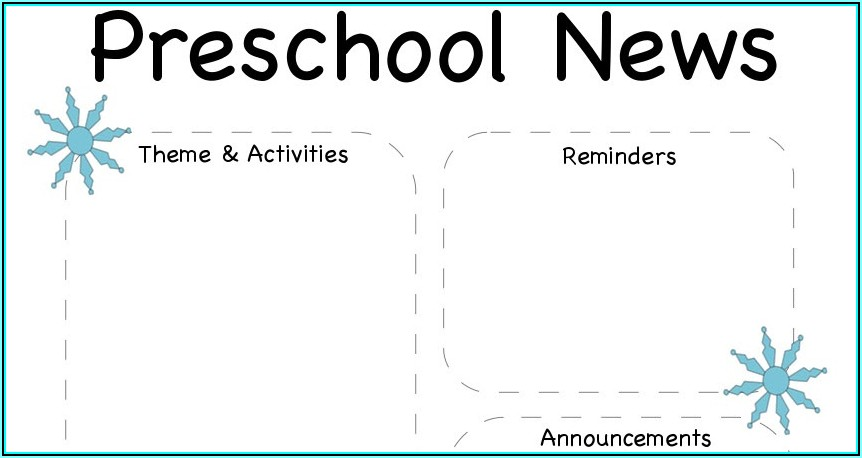Winter Preschool Newsletter Template