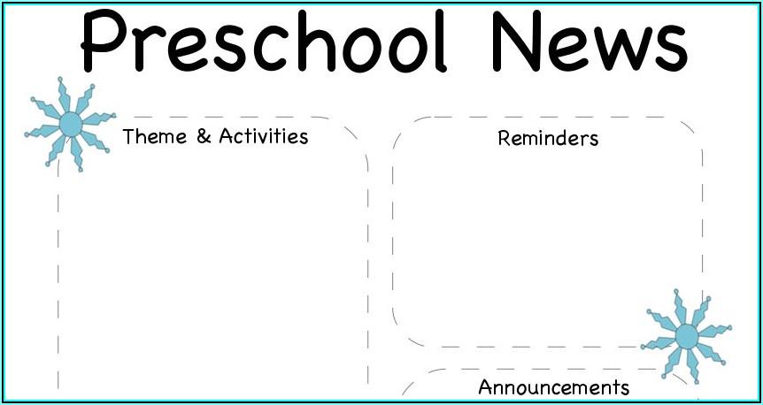 Winter Preschool Newsletter Template