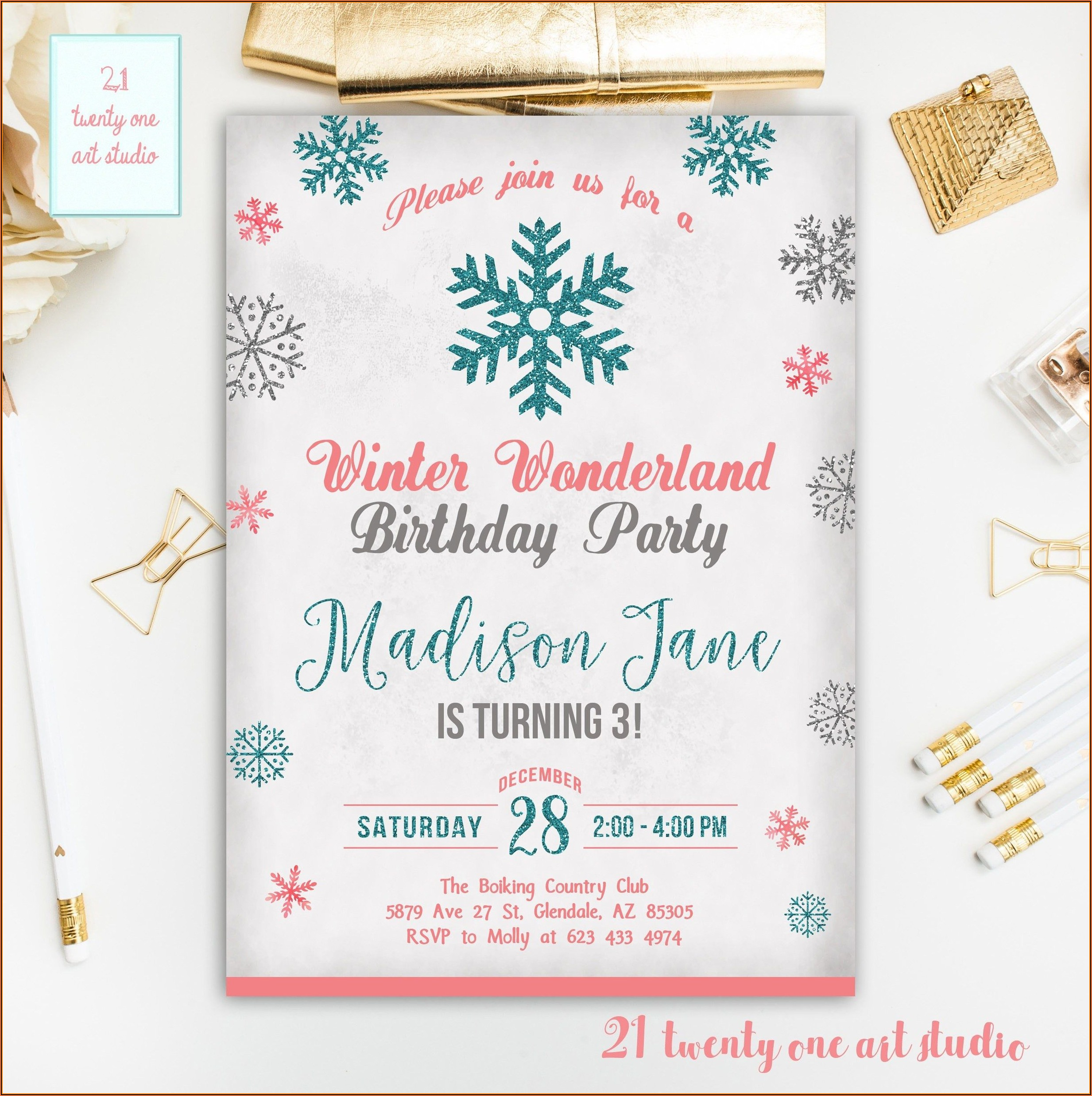Winter Wonderland Invitations Templates Free