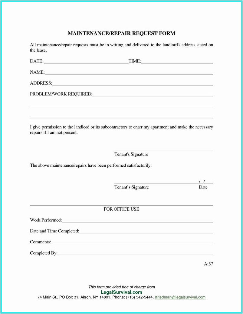 Work Order Form Template Excel