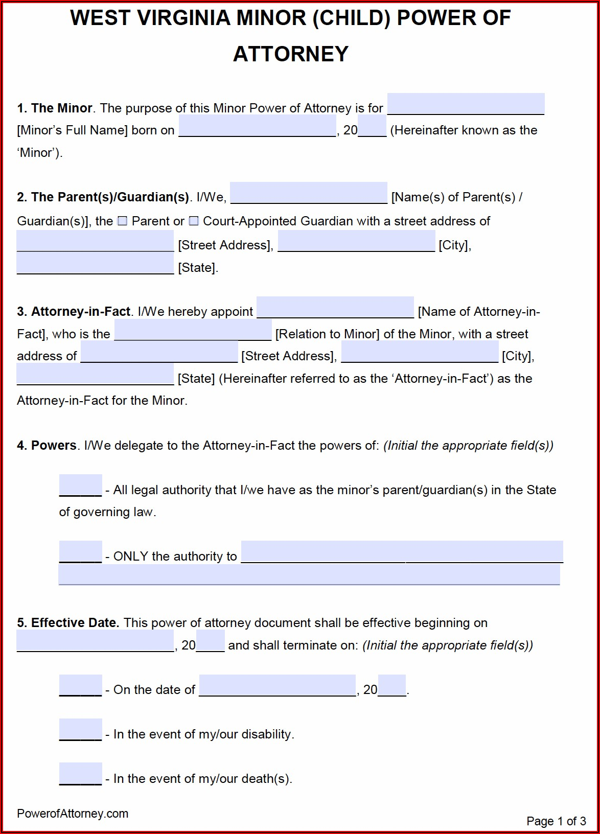 Wv Minor Guardianship Forms