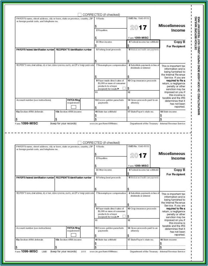 1099 Printable Forms 2019
