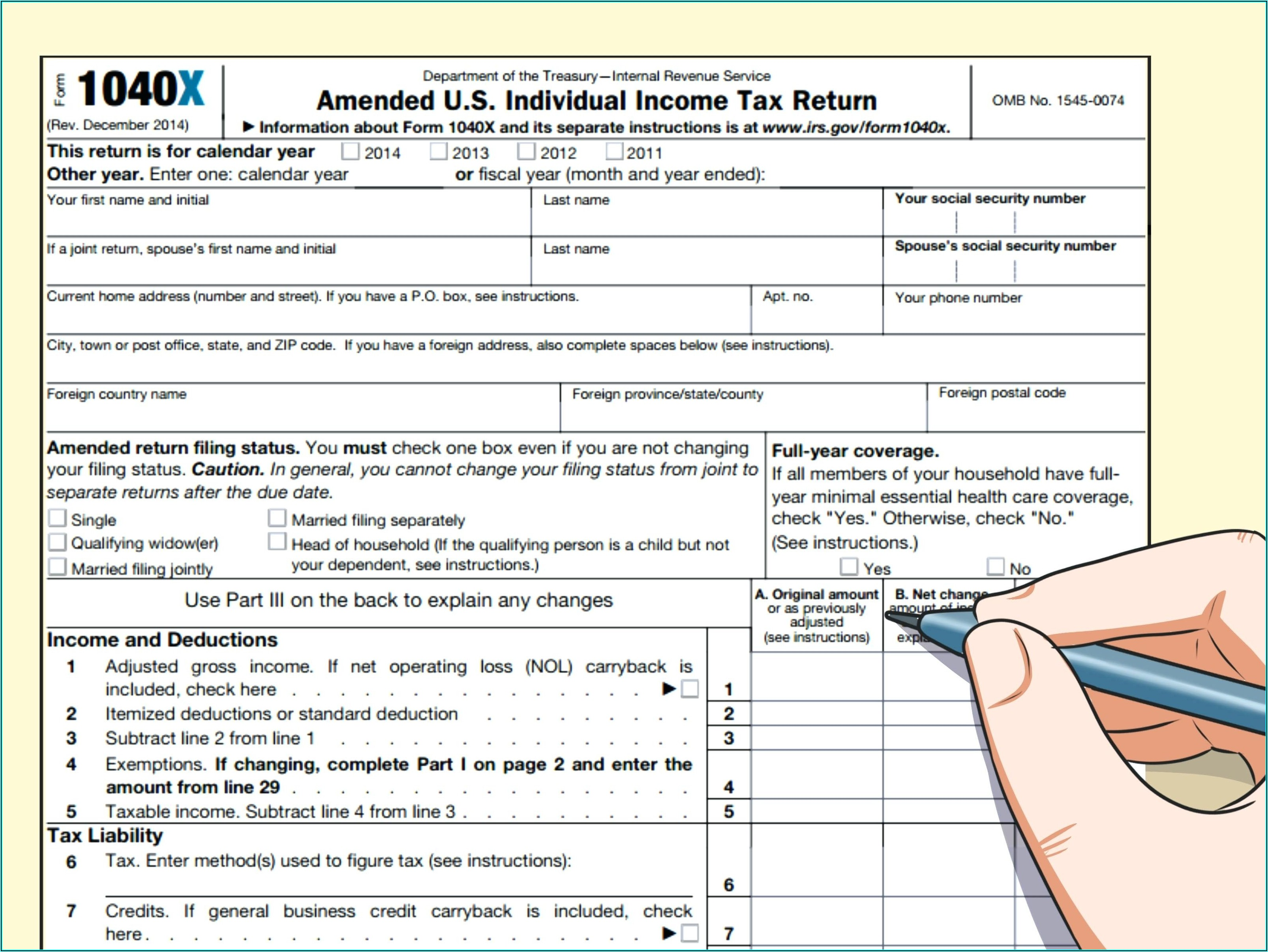 2014 Federal Tax Forms 1040ez