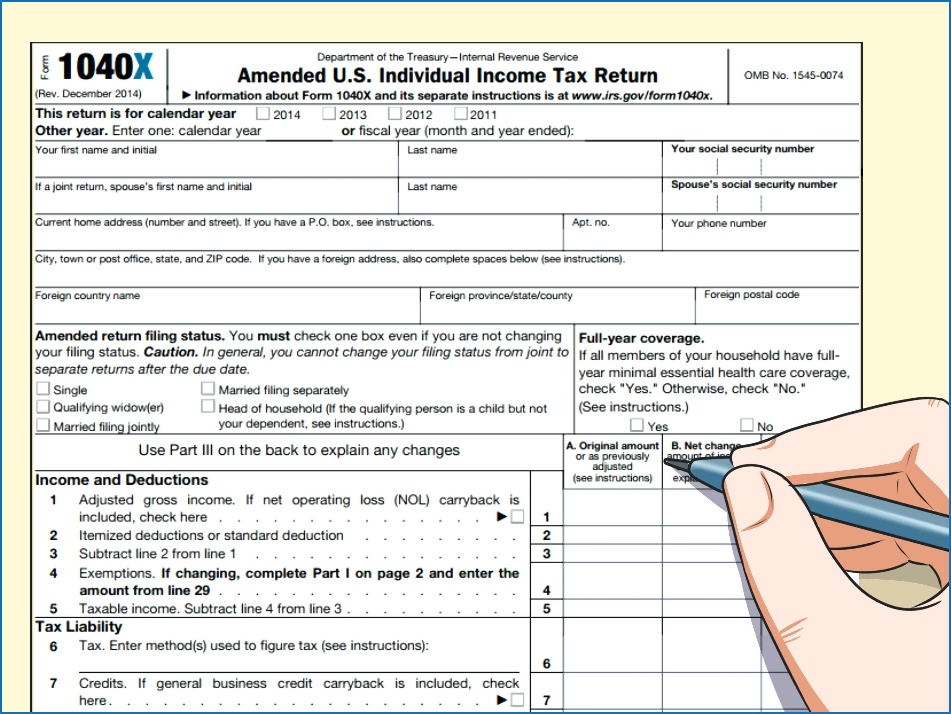 2014 Irs Tax Forms 1040ez