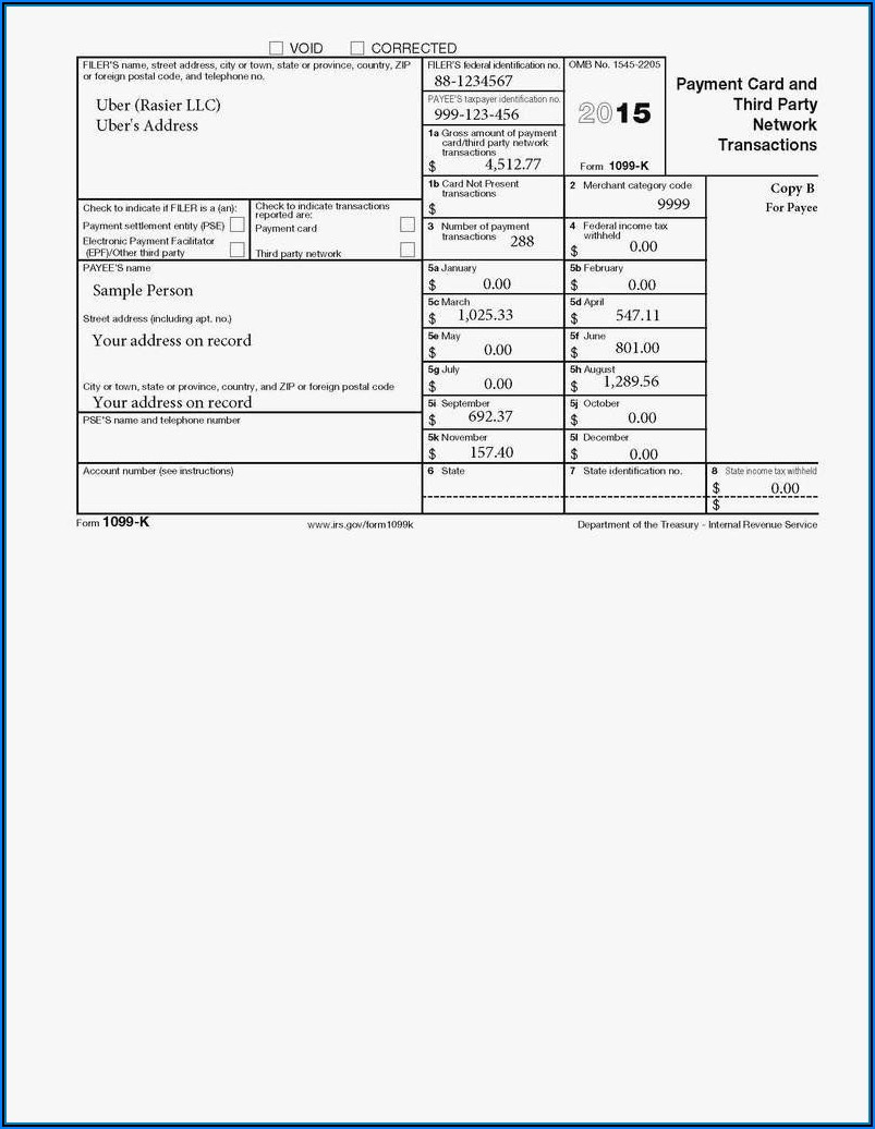 2017 Form 1099 Misc Fillable