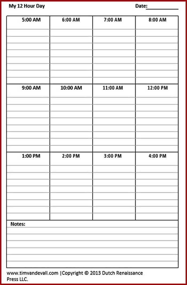 24 7 12 Hour Shift Schedule Template