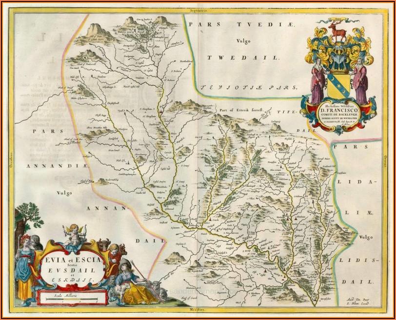 Antique Map Dealers Scotland