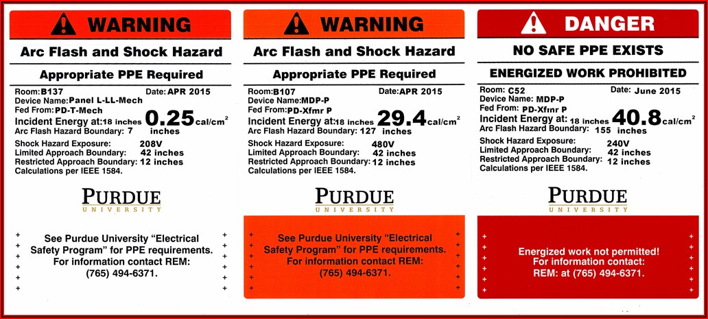 Arc Flash Safety Program Sample