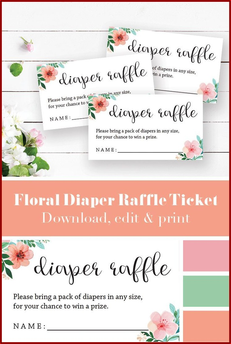 Baby Shower Raffle Ticket Template