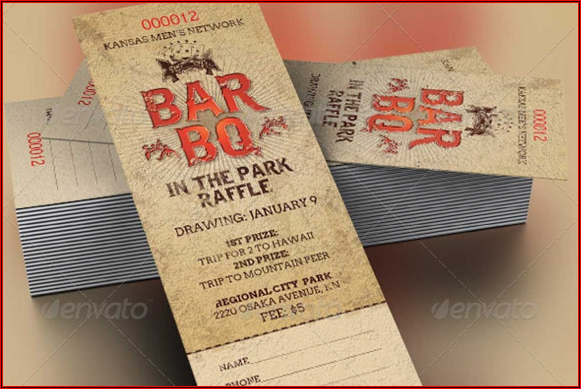 Bbq Raffle Ticket Template