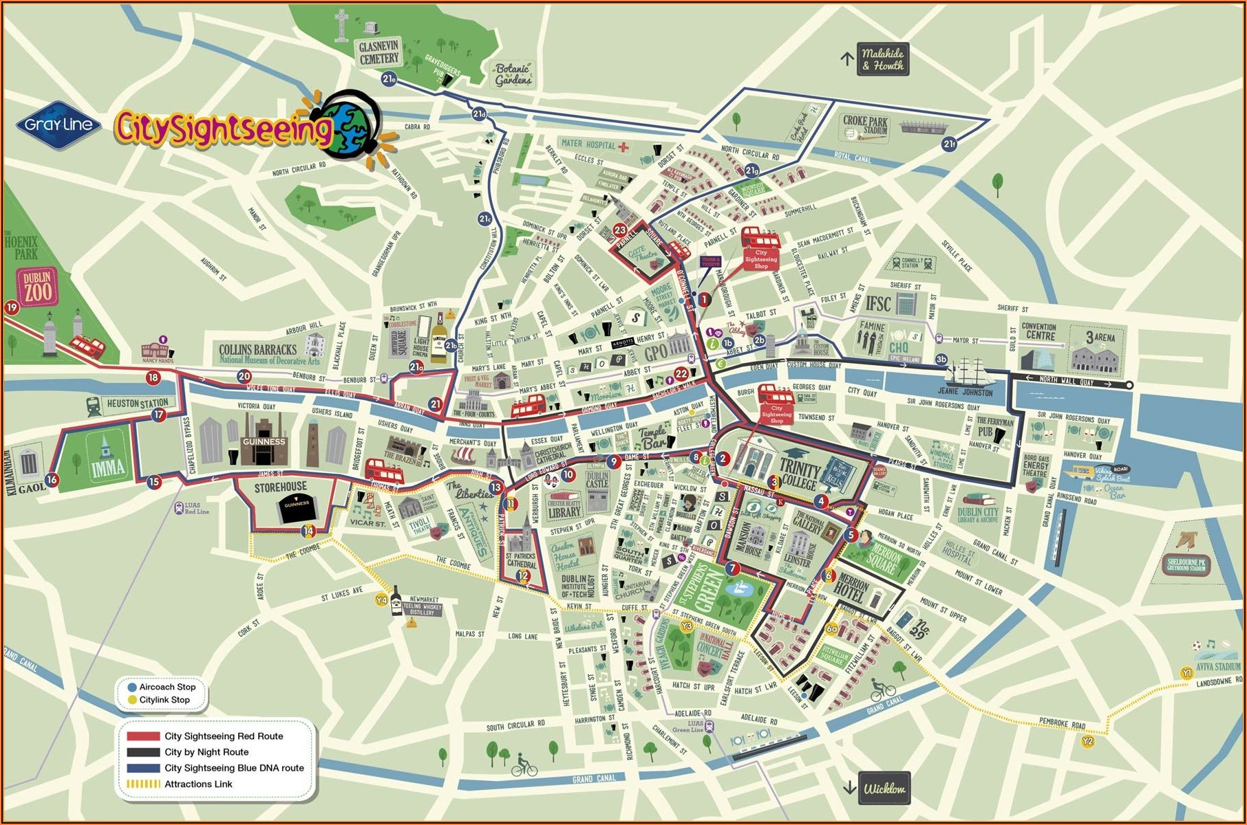 Belfast Hop On Hop Off Bus Map