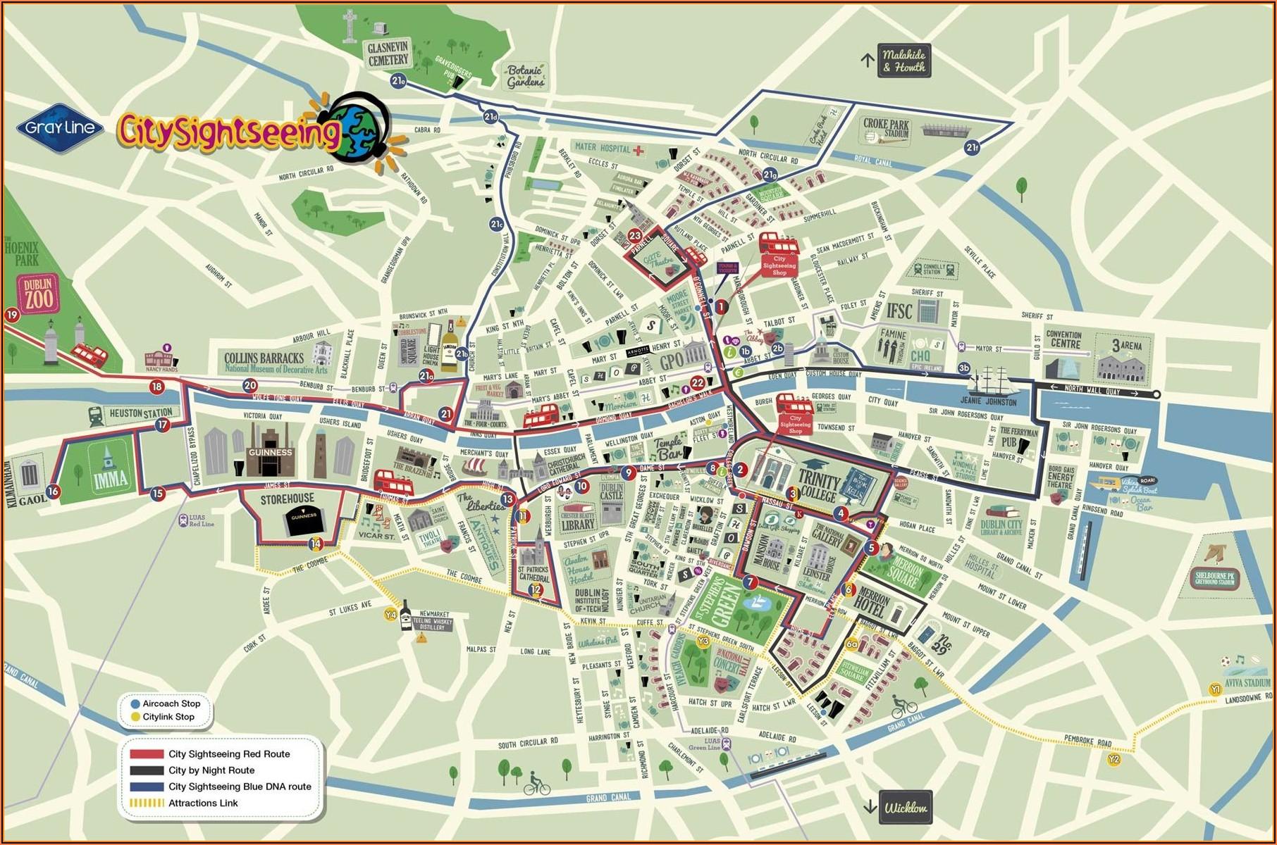 Belfast Hop On Hop Off Bus Tour Map