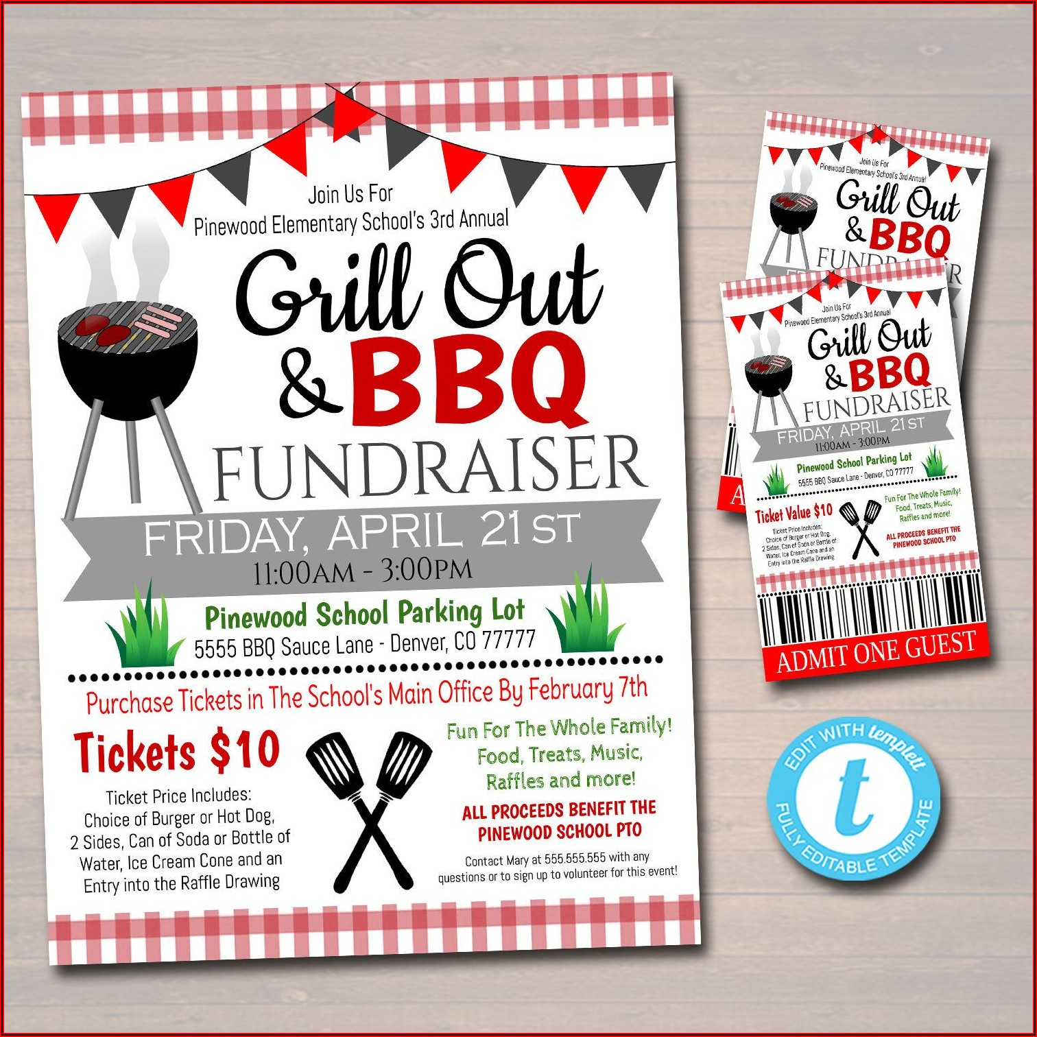 Benefit Bbq Ticket Template