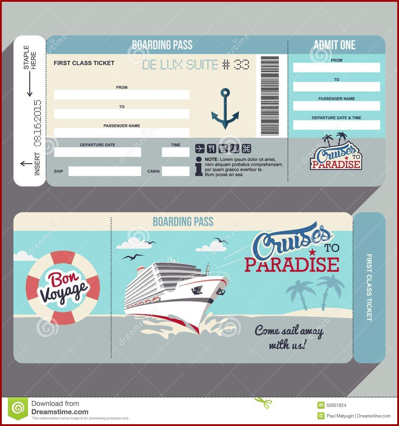 Boat Ride Ticket Template
