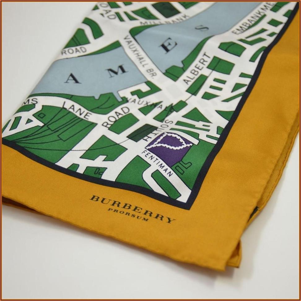 Burberry London Map Scarf