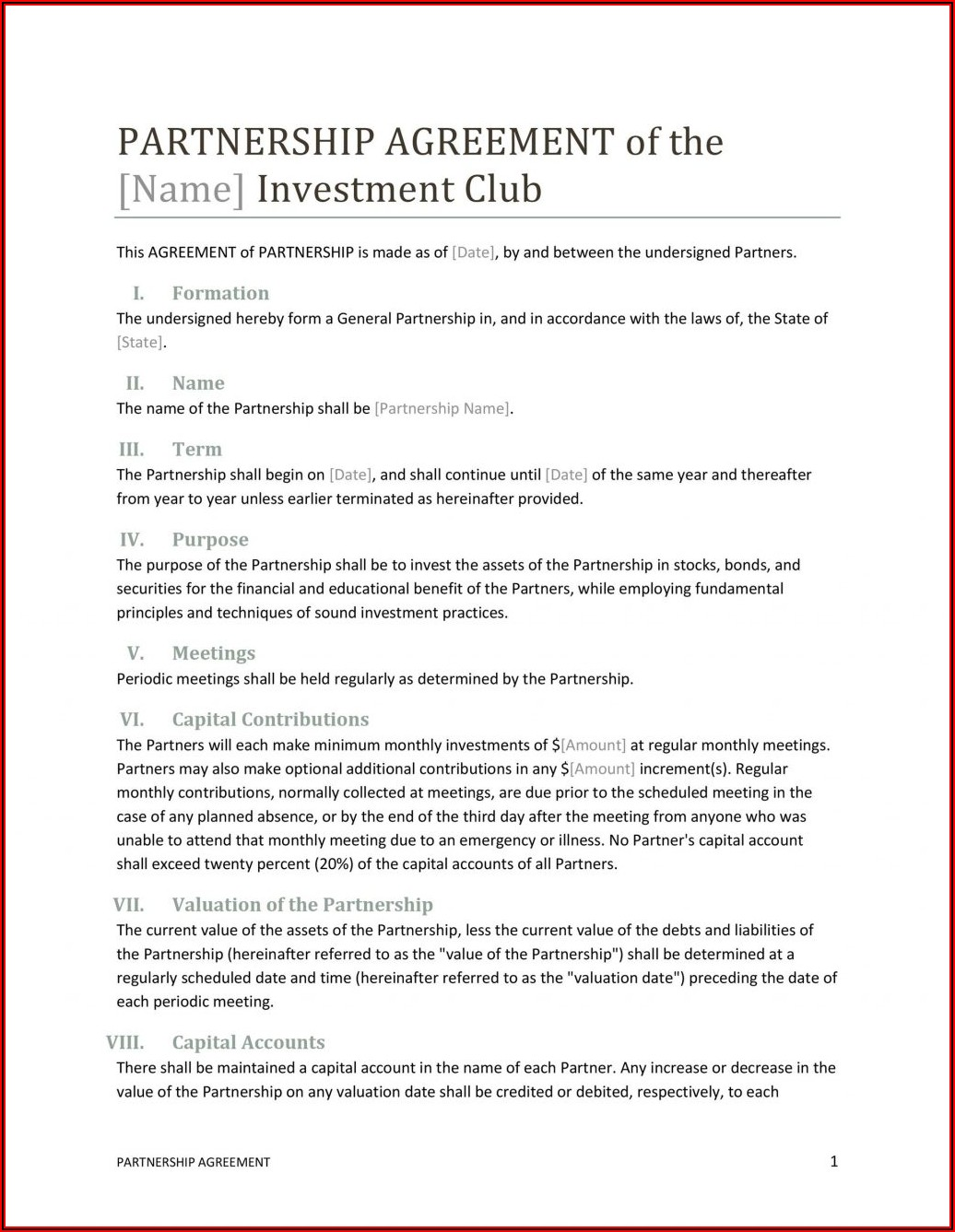 Business Purchase Agreement Template Free Download