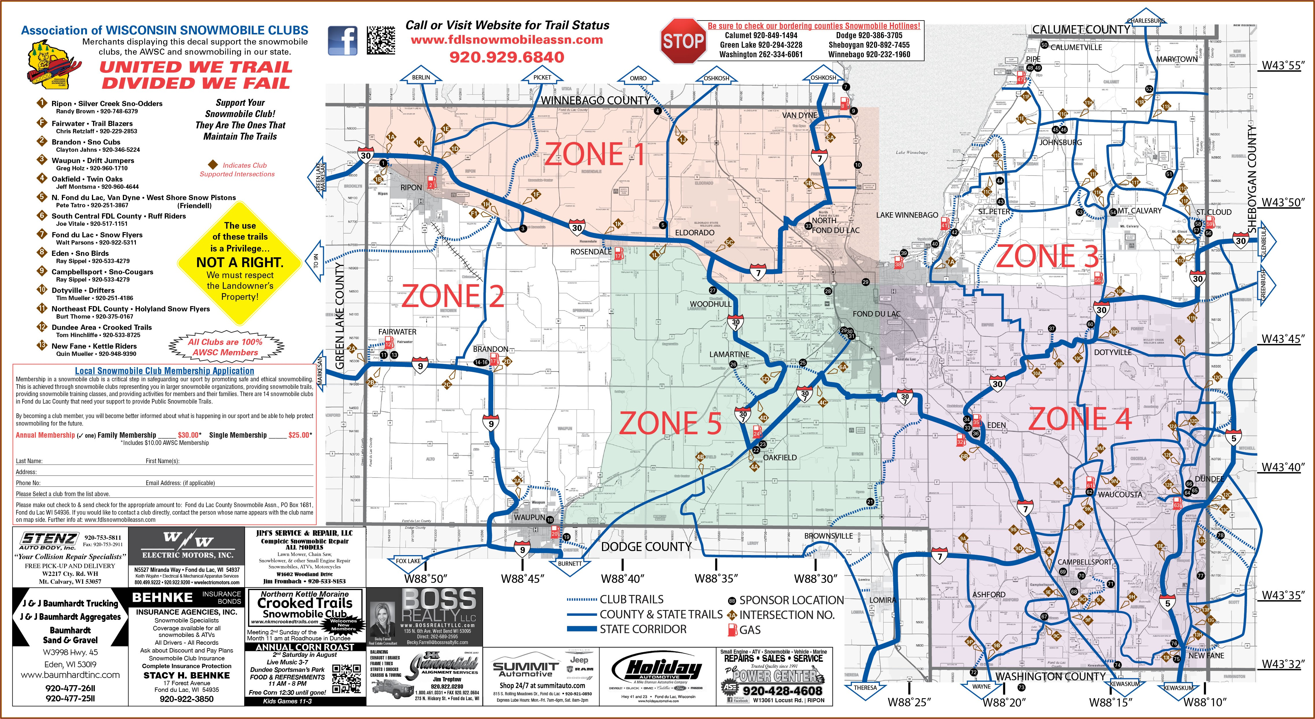 Cable Wi Snowmobile Trail Map