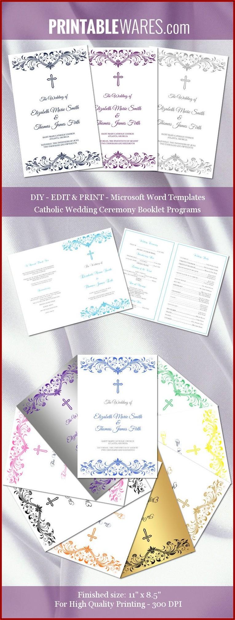 Catholic Wedding Booklet Templates
